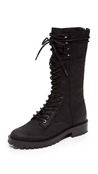 Dolce Vita Ward High Combat Boots - Black