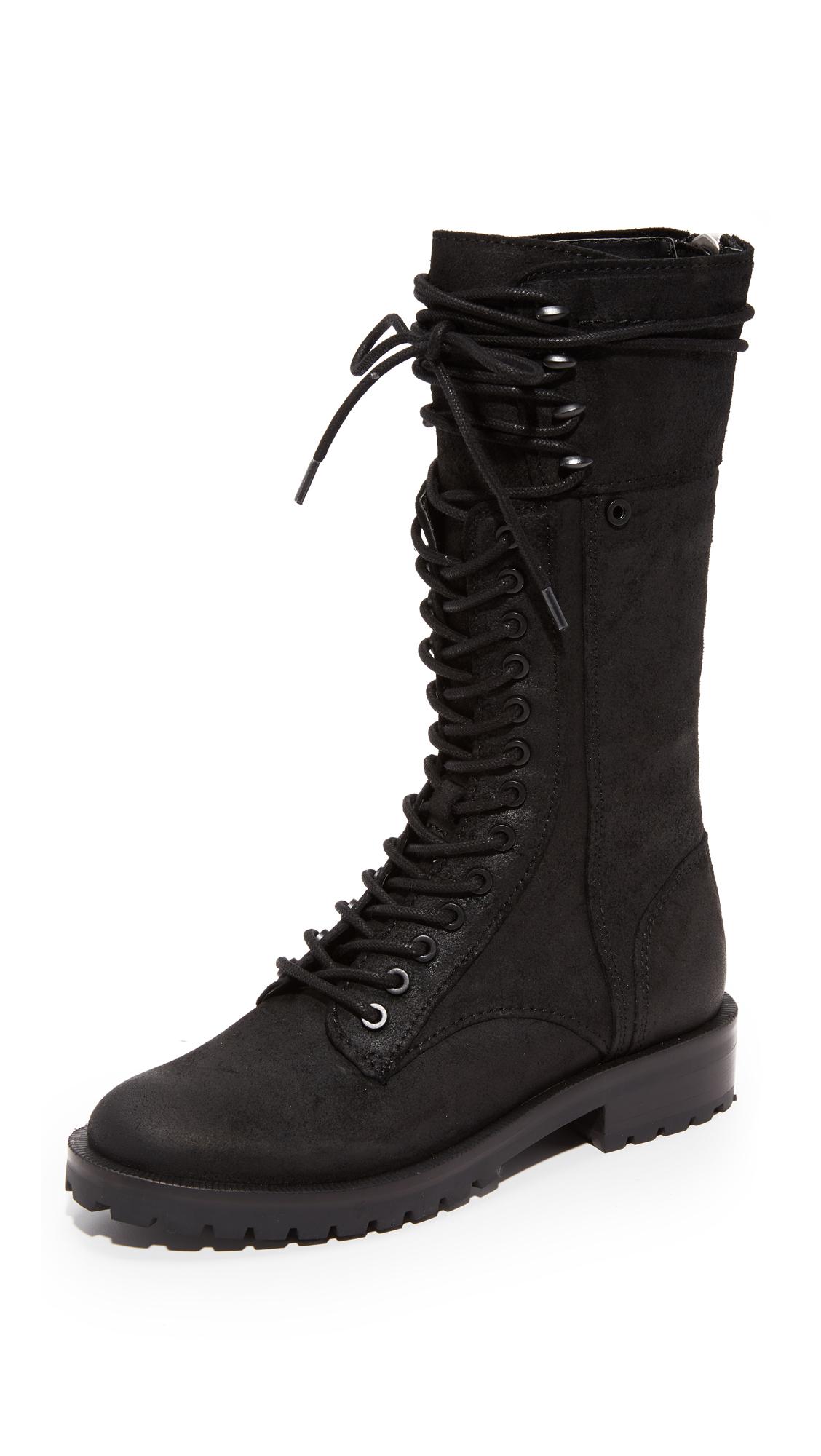 Dolce Vita Ward High Combat Boots - Black