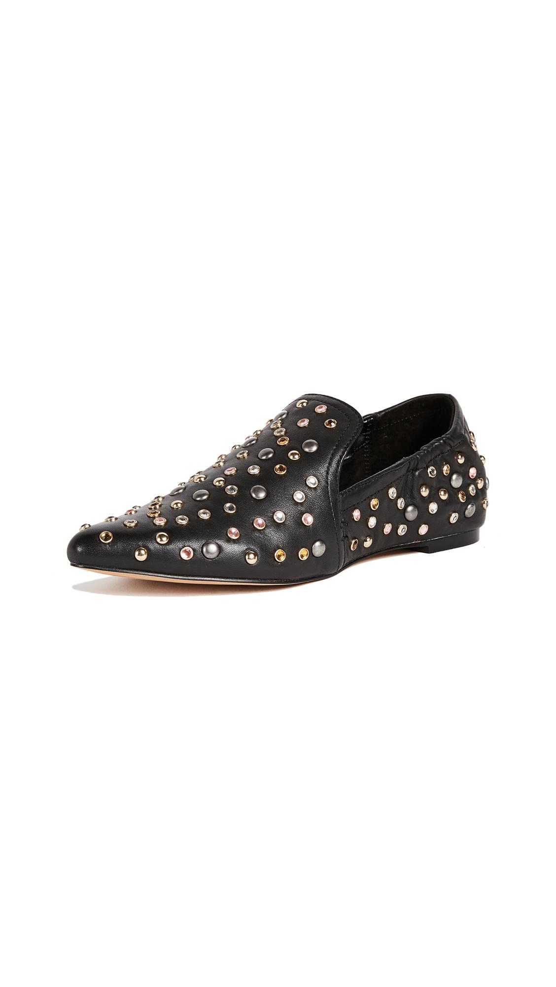 Dolce Vita Hamond Studded Loafers - Black