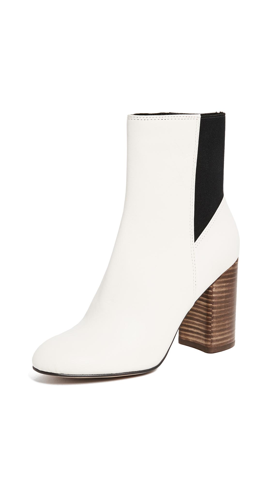 Dolce Vita Ramona Block Heel Ankle Boots - Ivory