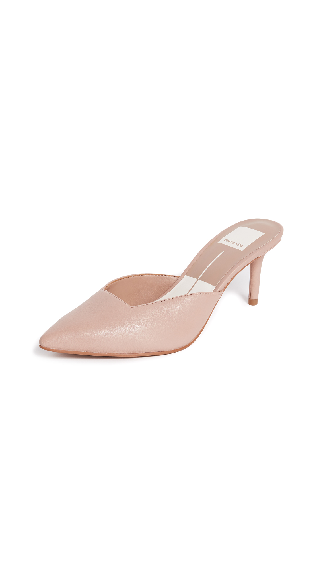 Dolce Vita Rhyme Point Toe Mules - Blush