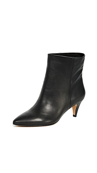 Dolce Vita Dee Booties In Black Leather