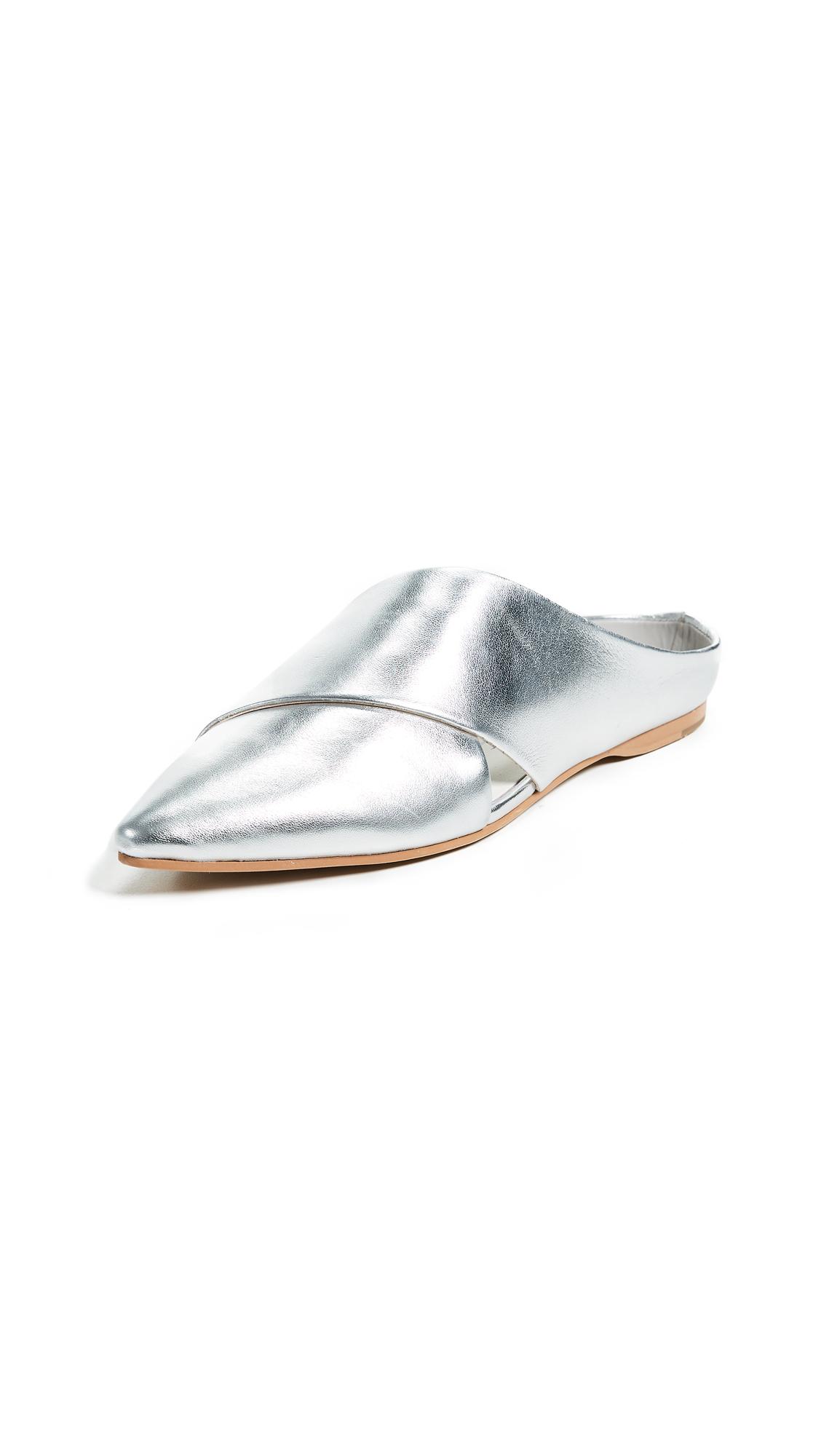 Dolce Vita Camia Point Toe Mules - Silver