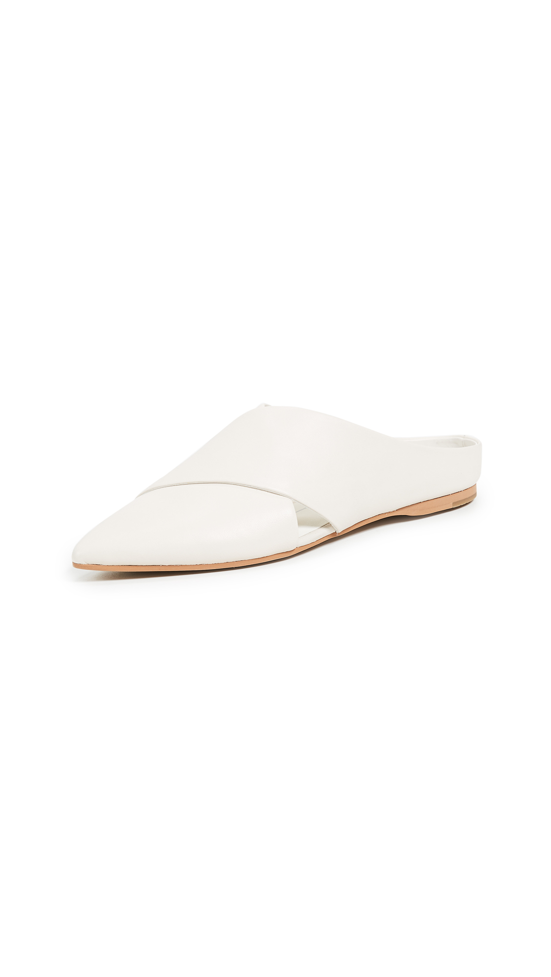 Dolce Vita Camia Point Toe Mules - Ivory