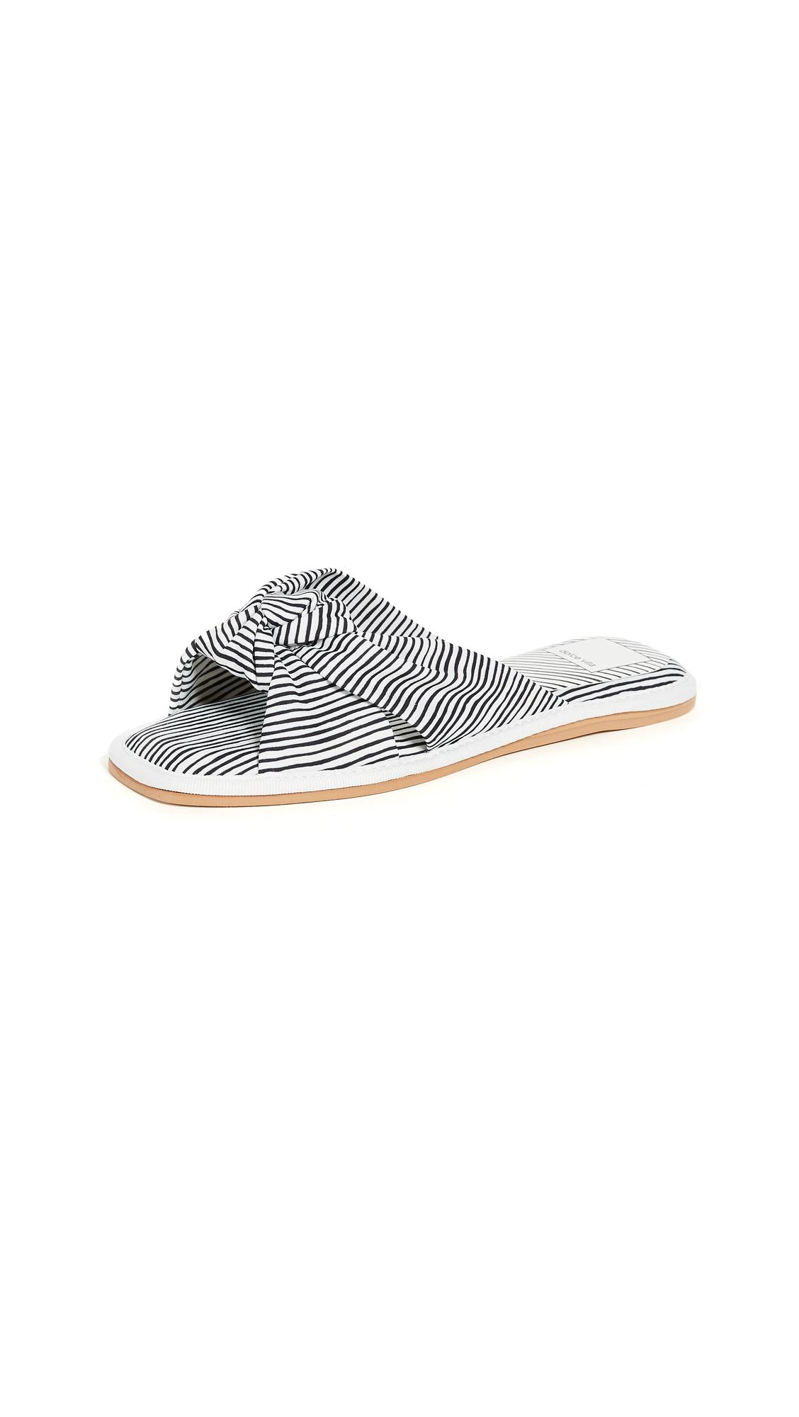 Dolce Vita Halle Slides - White Stripe