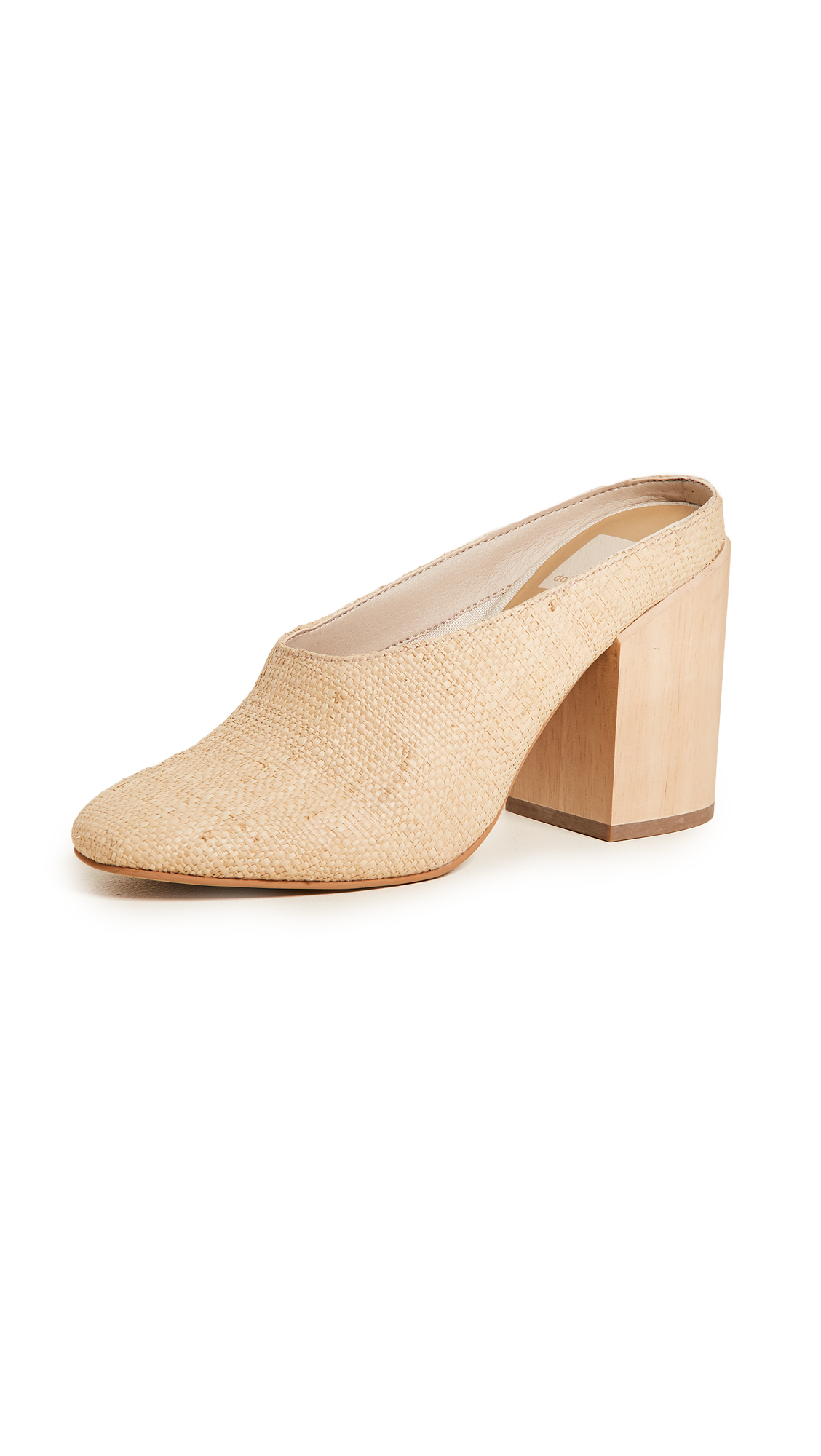 Dolce Vita Caley Block Heel Mules In Natural