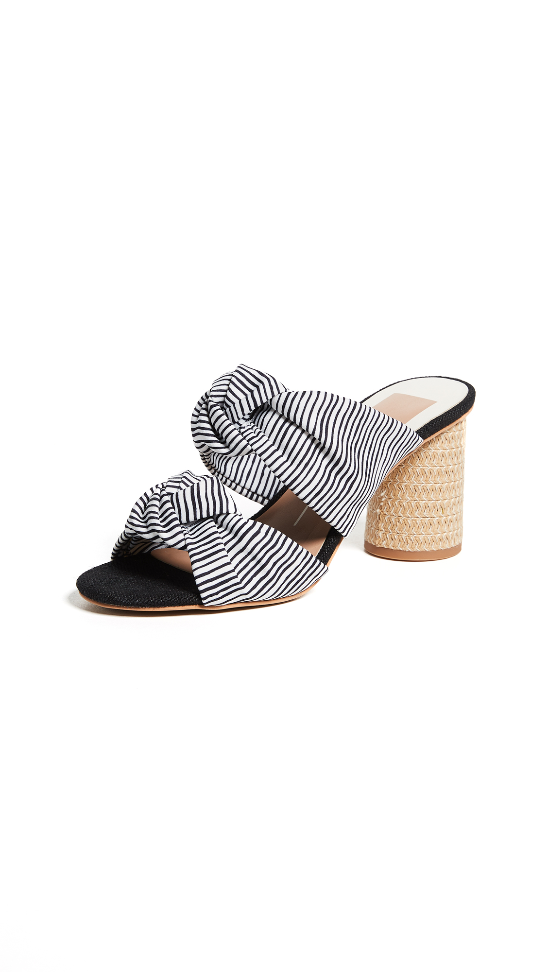 Dolce Vita Jene Double Strap Sandals - White Stripe