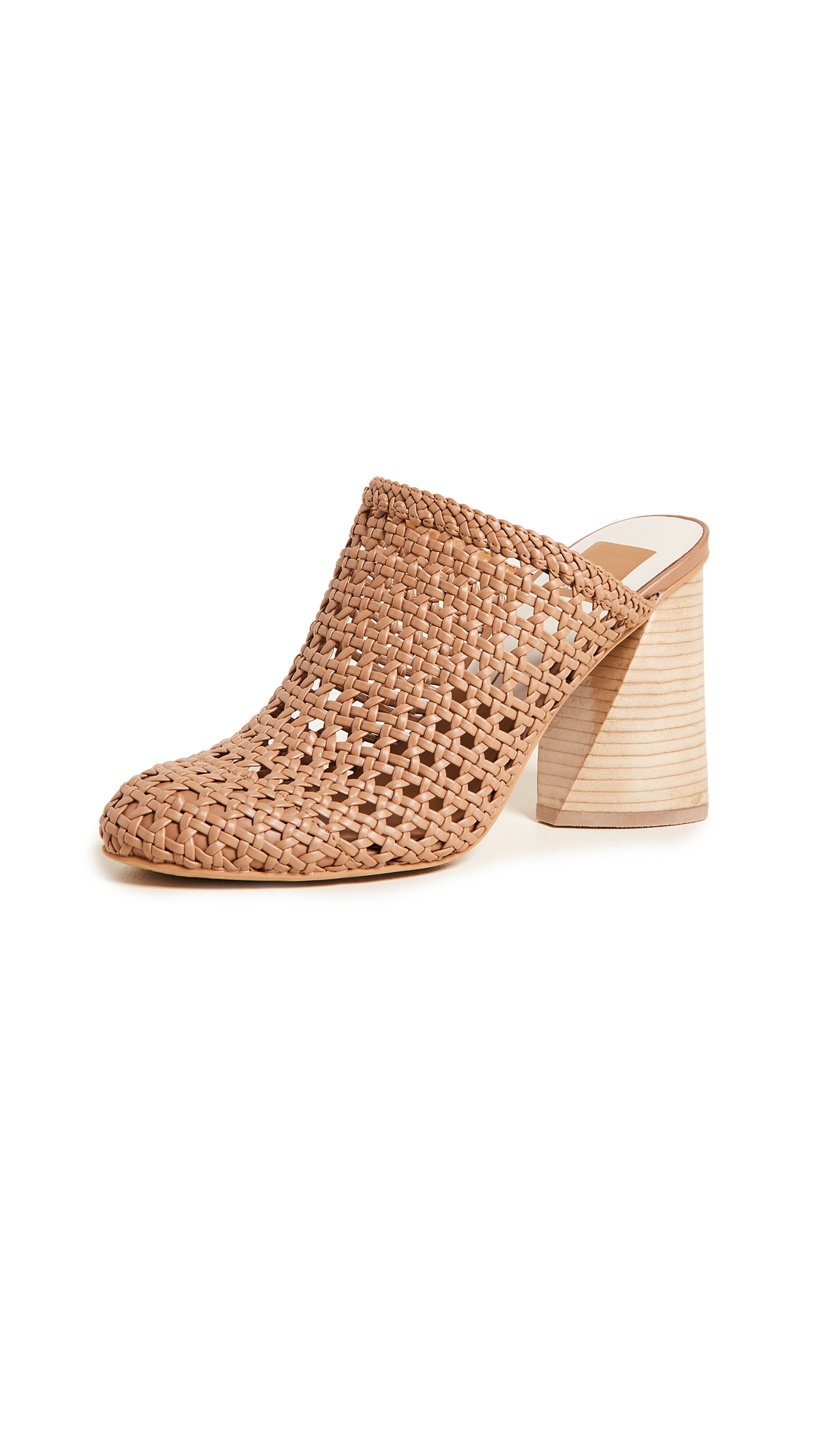 Dolce Vita Boston Woven Block Heel Pumps - Caramel