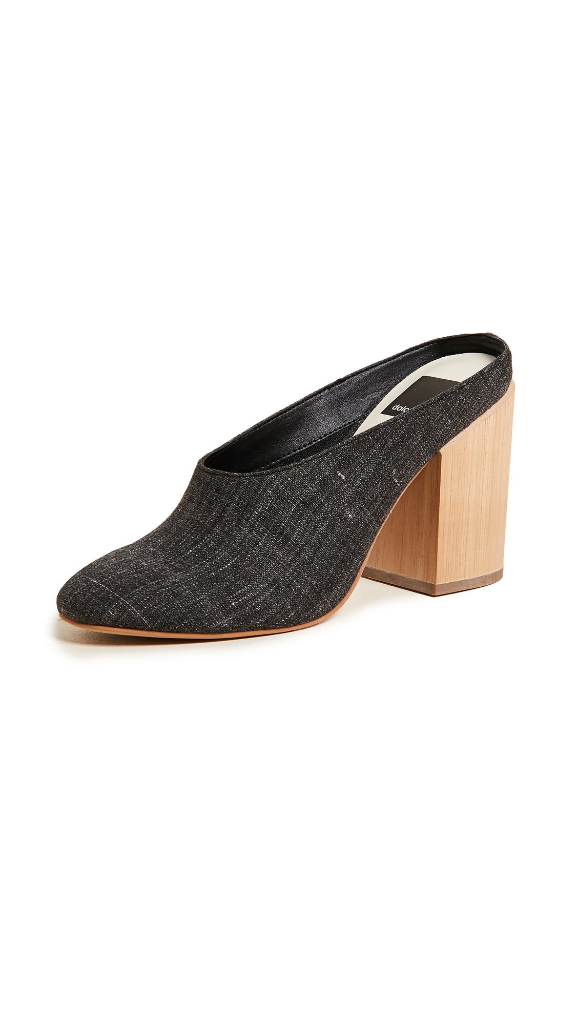 Dolce Vita Caley Block Heel Mules - Ash