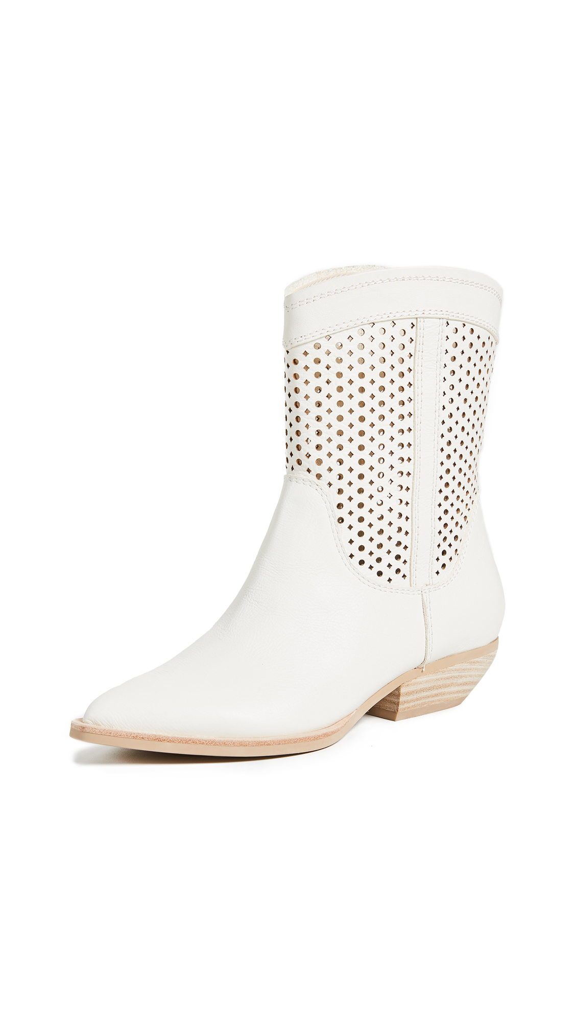 Dolce Vita Union Western Boots - Off White