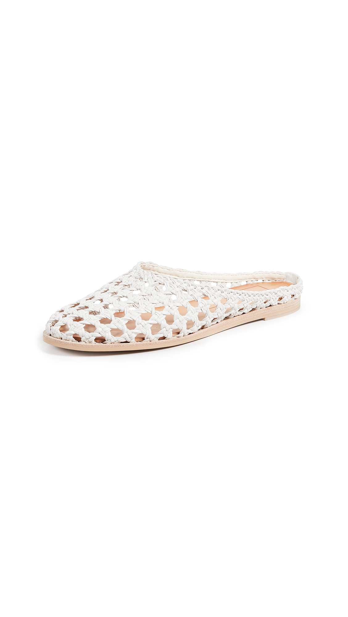 Dolce Vita Aveline Woven Flats In Off White