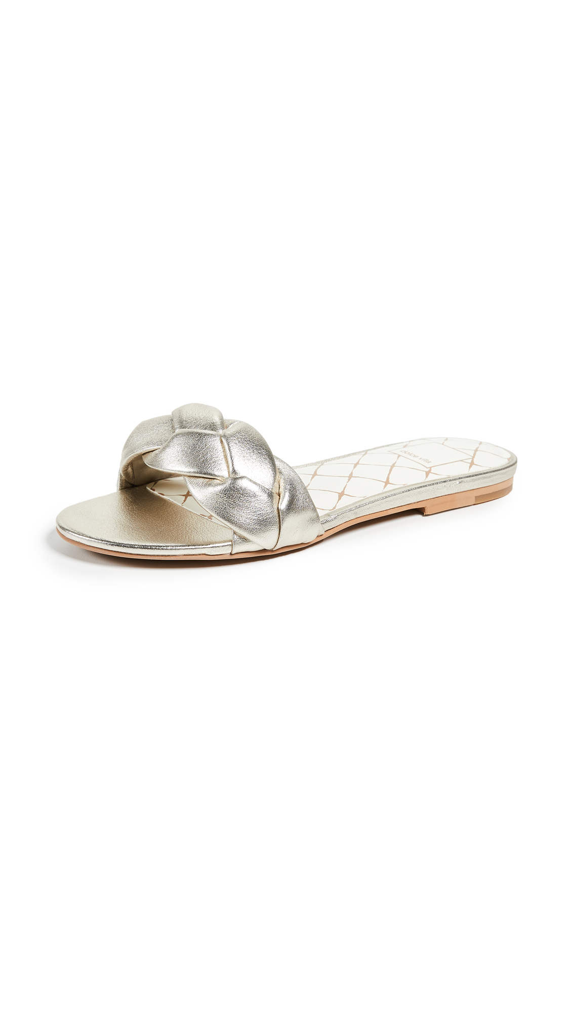 Dolce Vita Kimana Braided Sandals - Light Gold