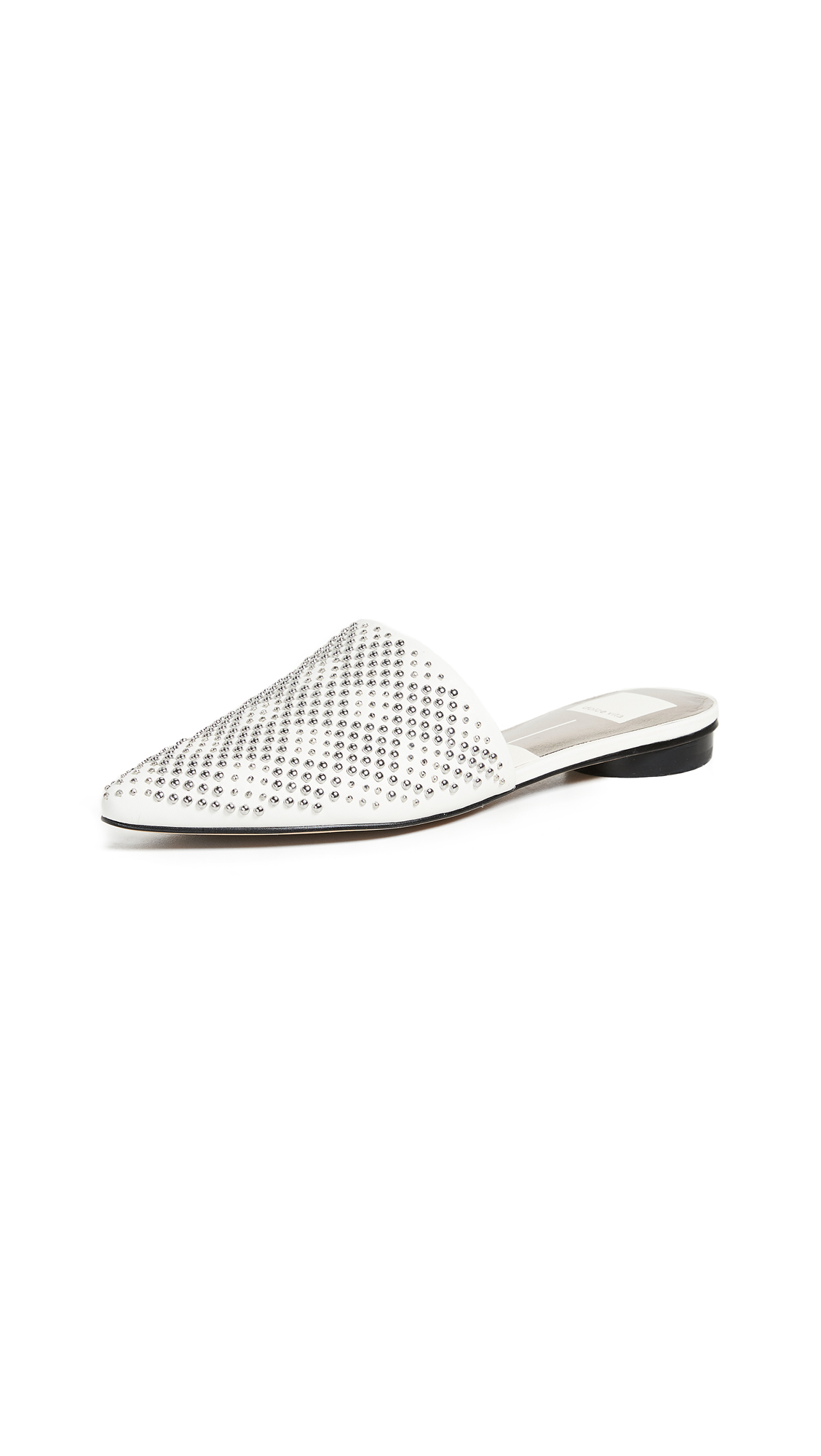 Dolce Vita Elvah Point Toe Mules In Off White