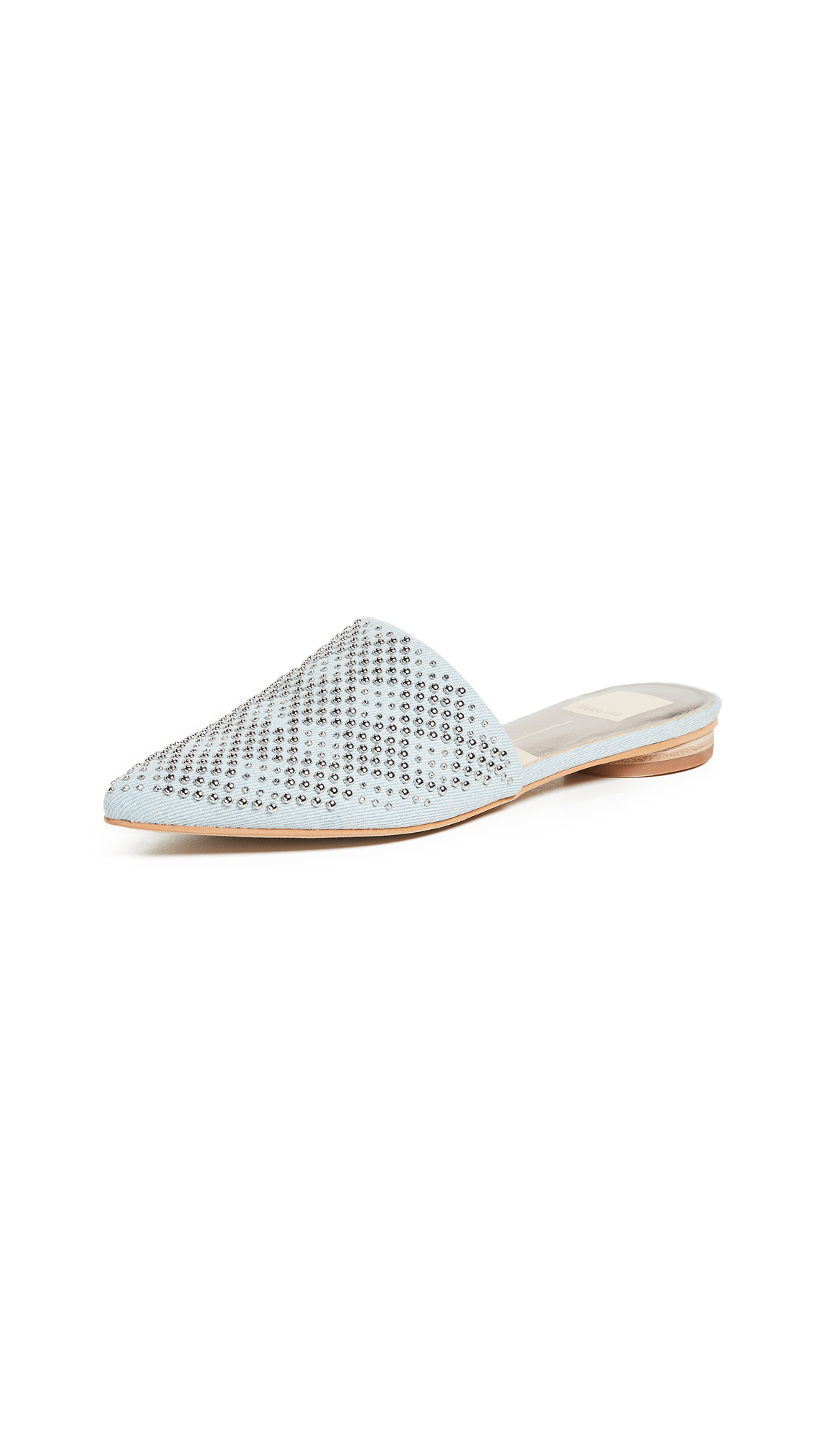 DOLCE VITA Elvah Point Toe Mules in Light Blue