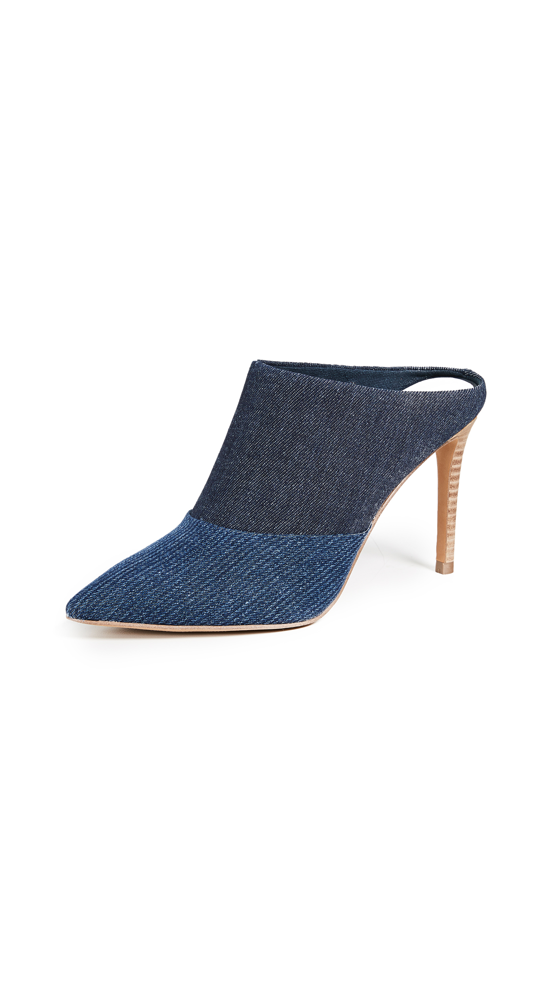 Dolce Vita Cinda Point Toe Mules In Indigo
