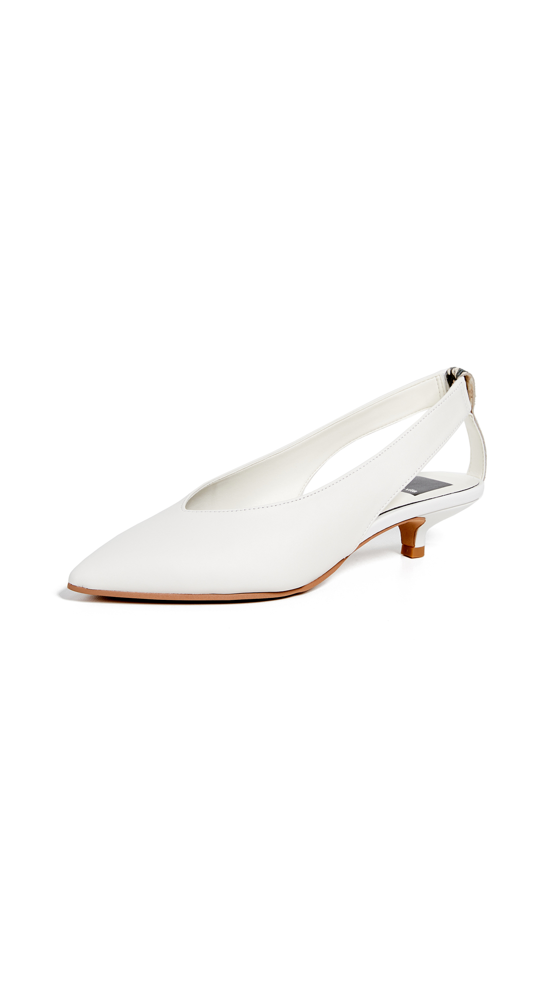 00e947c69573 Dolce Vita Snakeskin-Print Slingback Leather Kitten-Heel Pump In Off White
