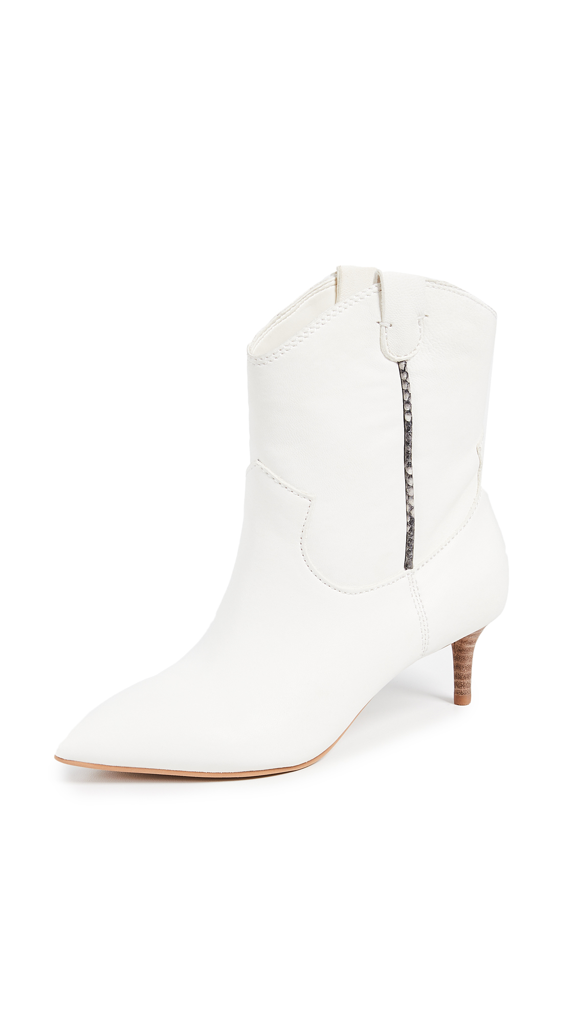 Dolce Vita Reece Point Toe Booties - Off White
