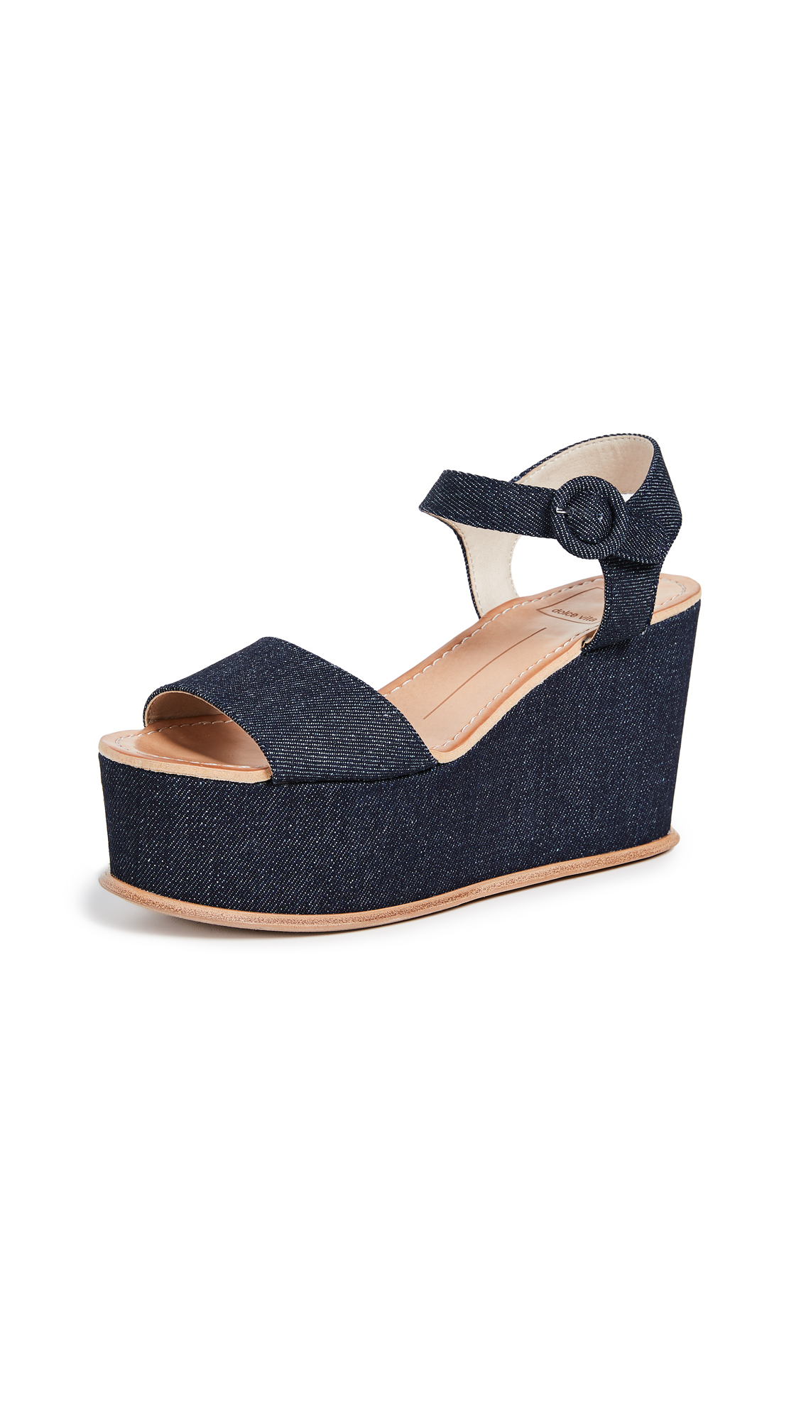 Dolce Vita Datiah Platform Sandals - Denim