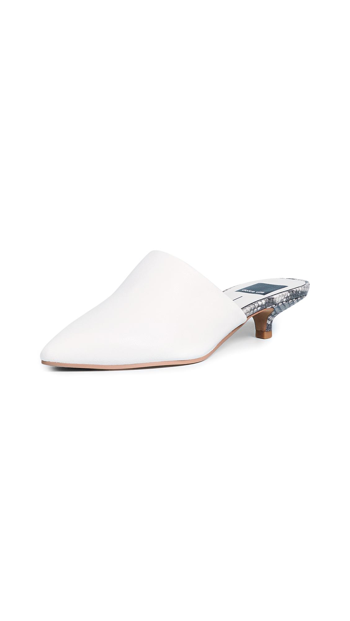 Dolce Vita Obie Point Toe Mules - Off White