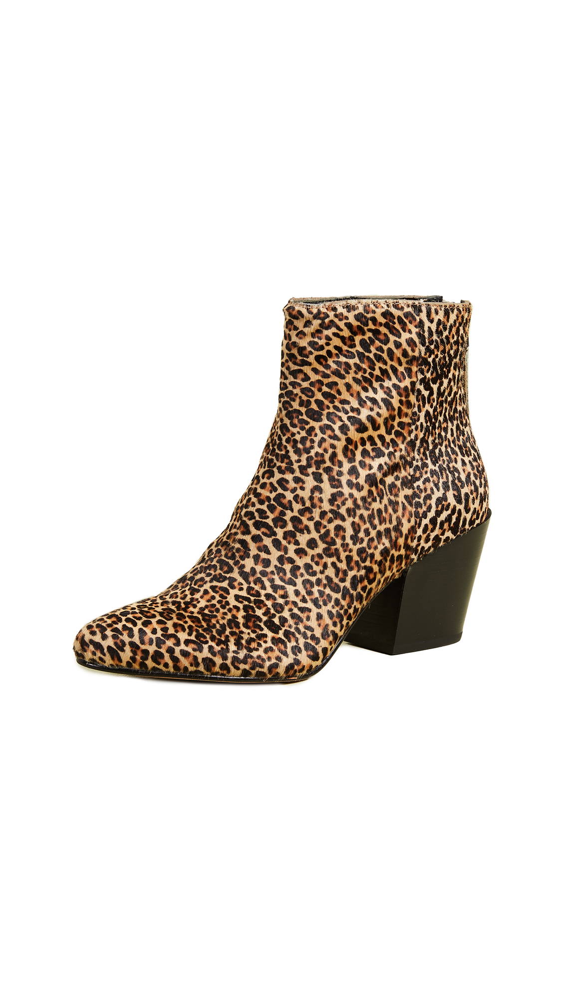 DOLCE VITA Women'S Coltyn Printed Calf Hair Booties in Leopard