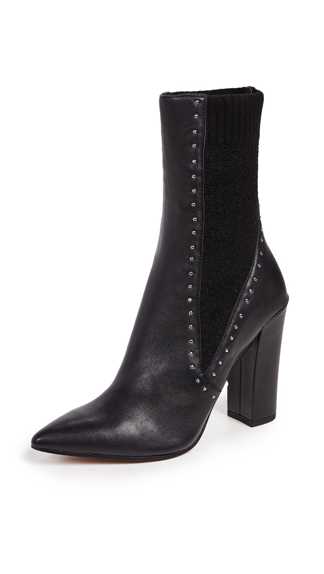 Dolce Vita Echo Block Heel Boots - Black