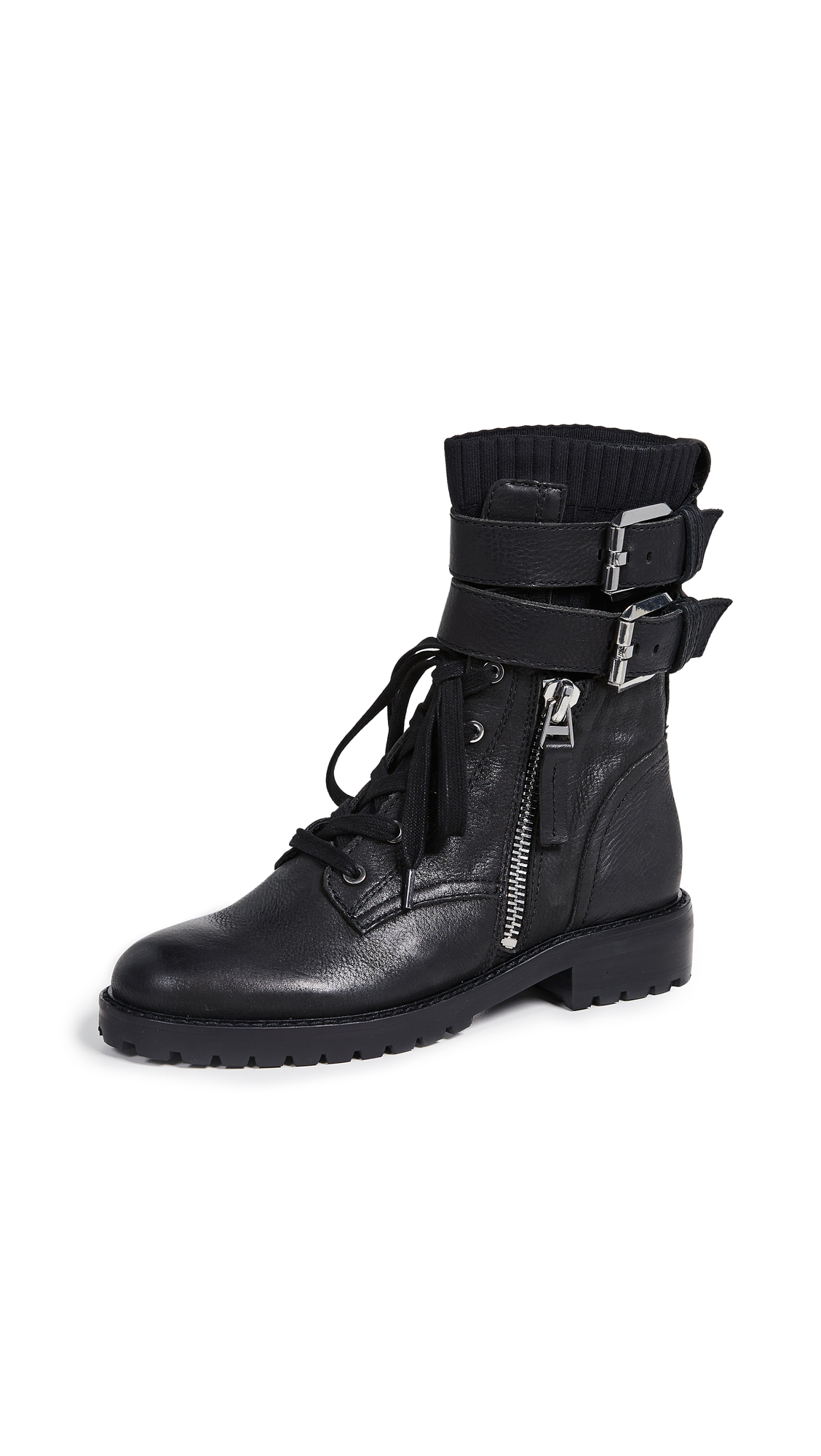 Dolce Vita Wylie Combat Boots In Black