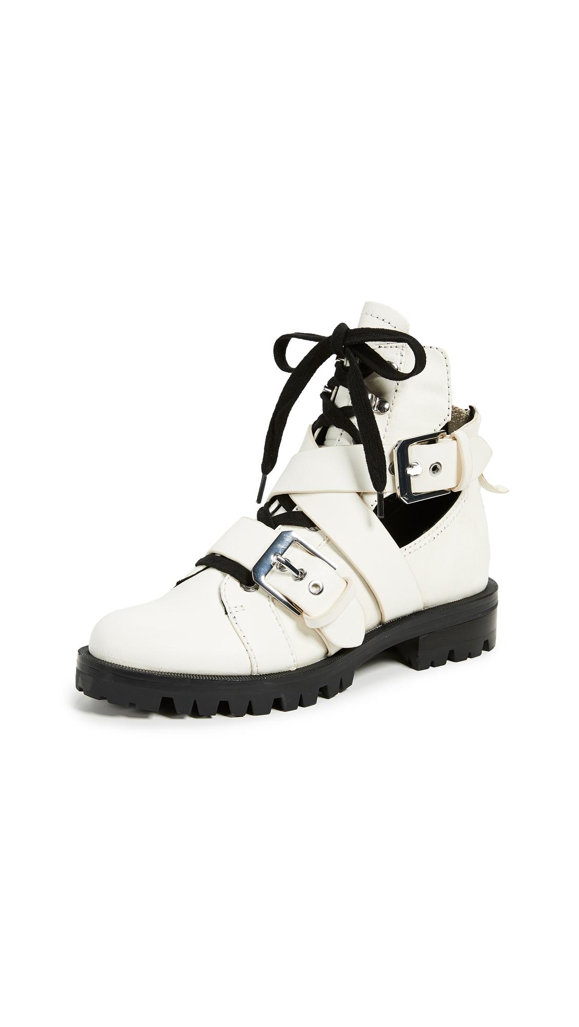 Dolce Vita Preia Combat Boots - Off White