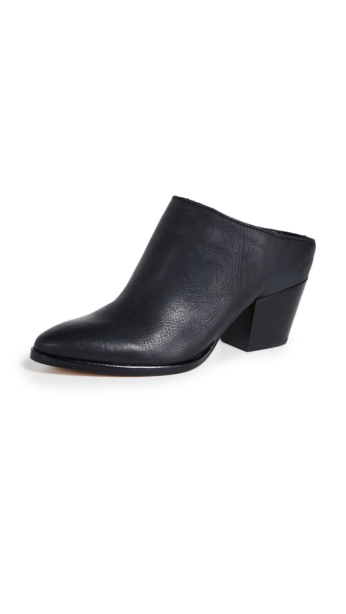 Dolce Vita Roya Block Heel Mules - Black