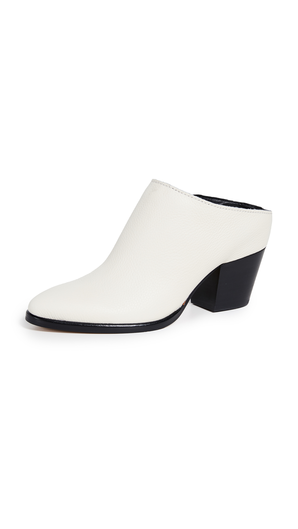 Dolce Vita Roya Block Heel Mules - Off White