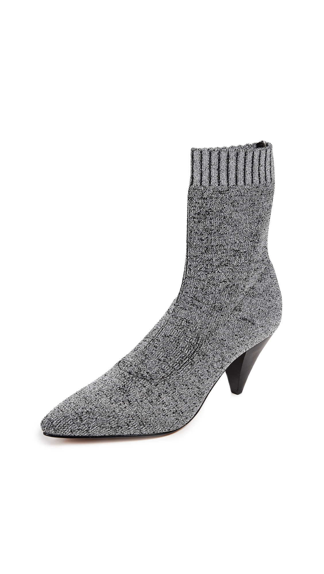 Dolce Vita Tao Knit Booties - Silver