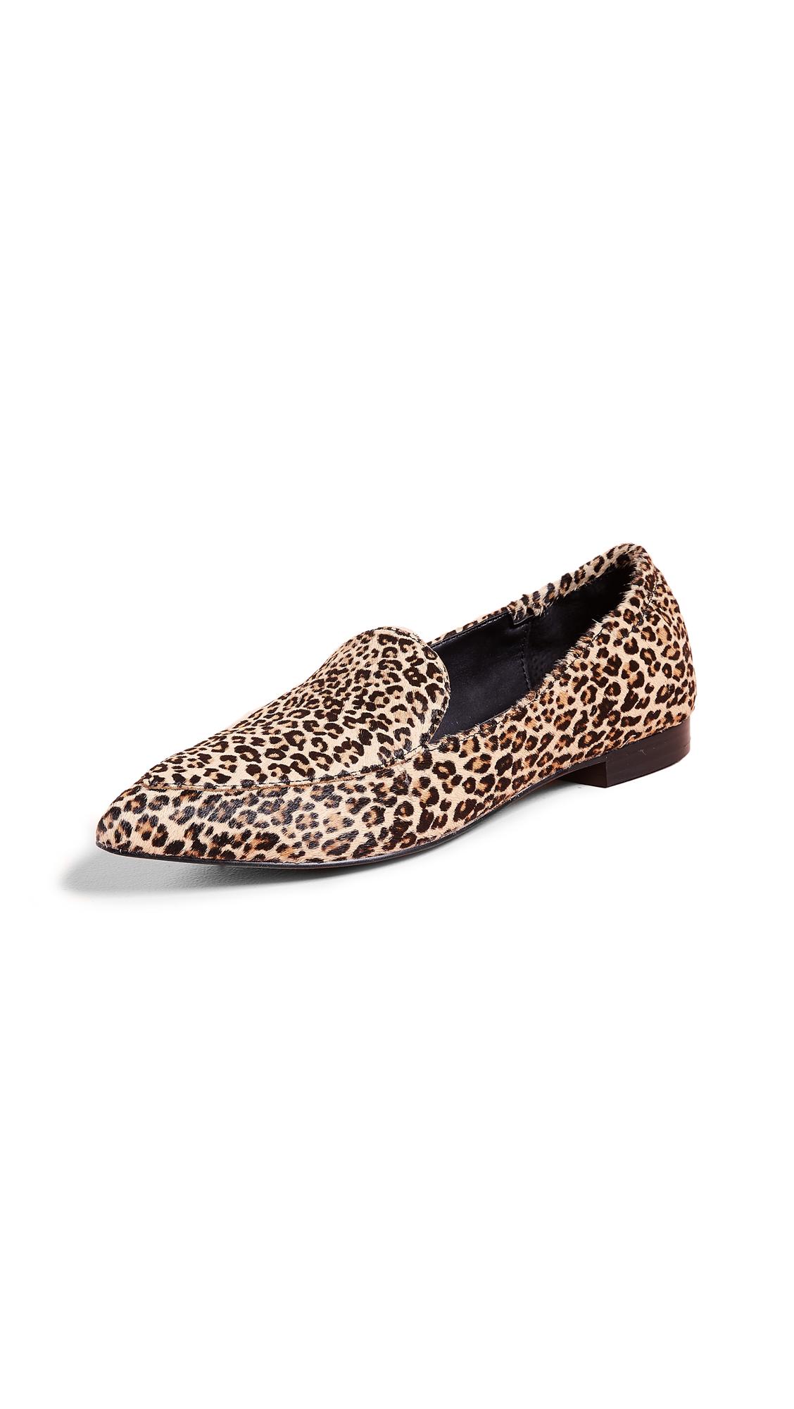 Dolce Vita Wanita Point Toe Loafers In Leopard