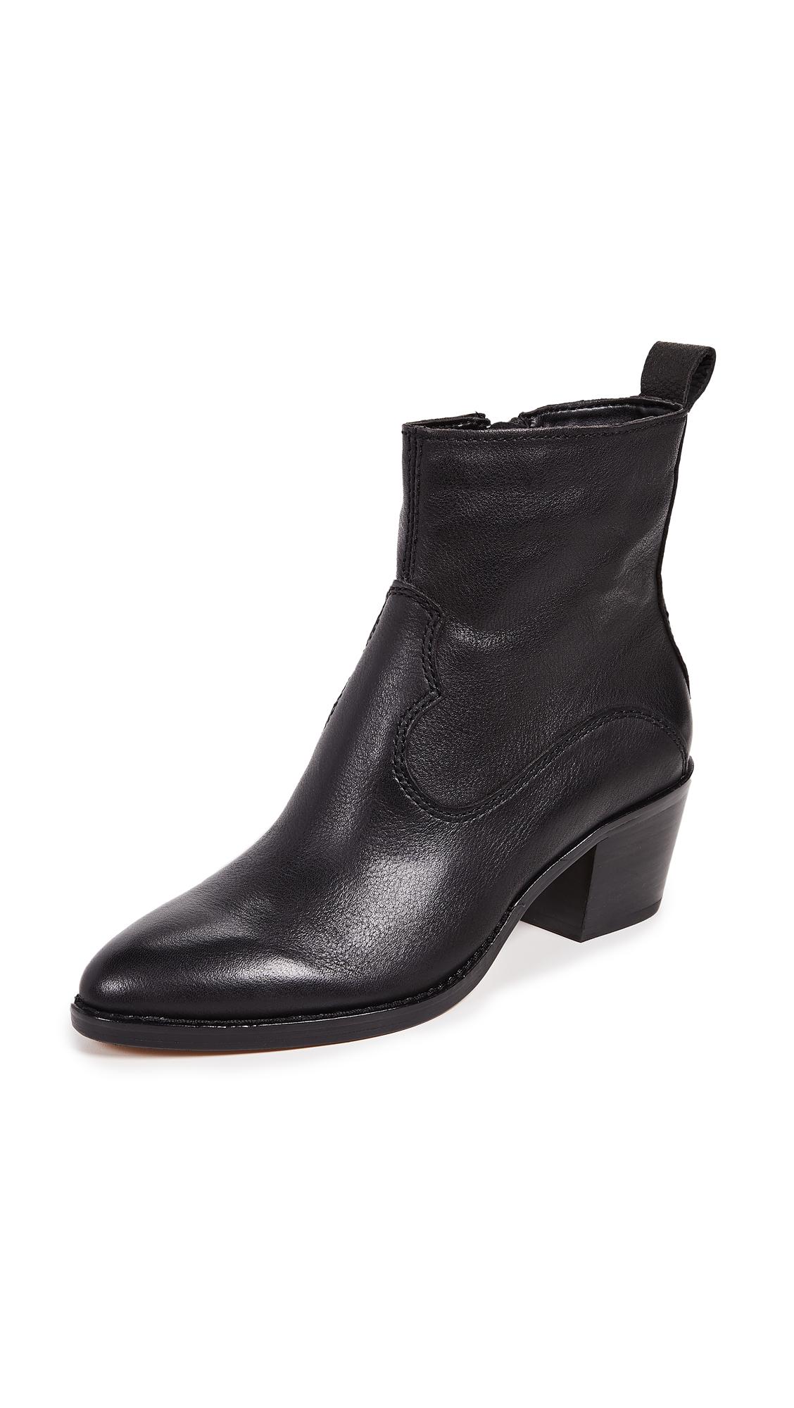 Dolce Vita Daliss Block Heel Booties - Black