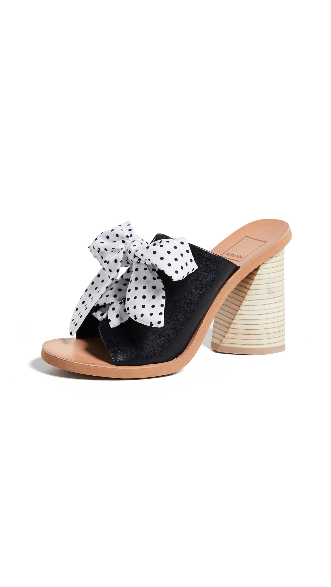 Dolce Vita Amber Block Heel Sandals - Black