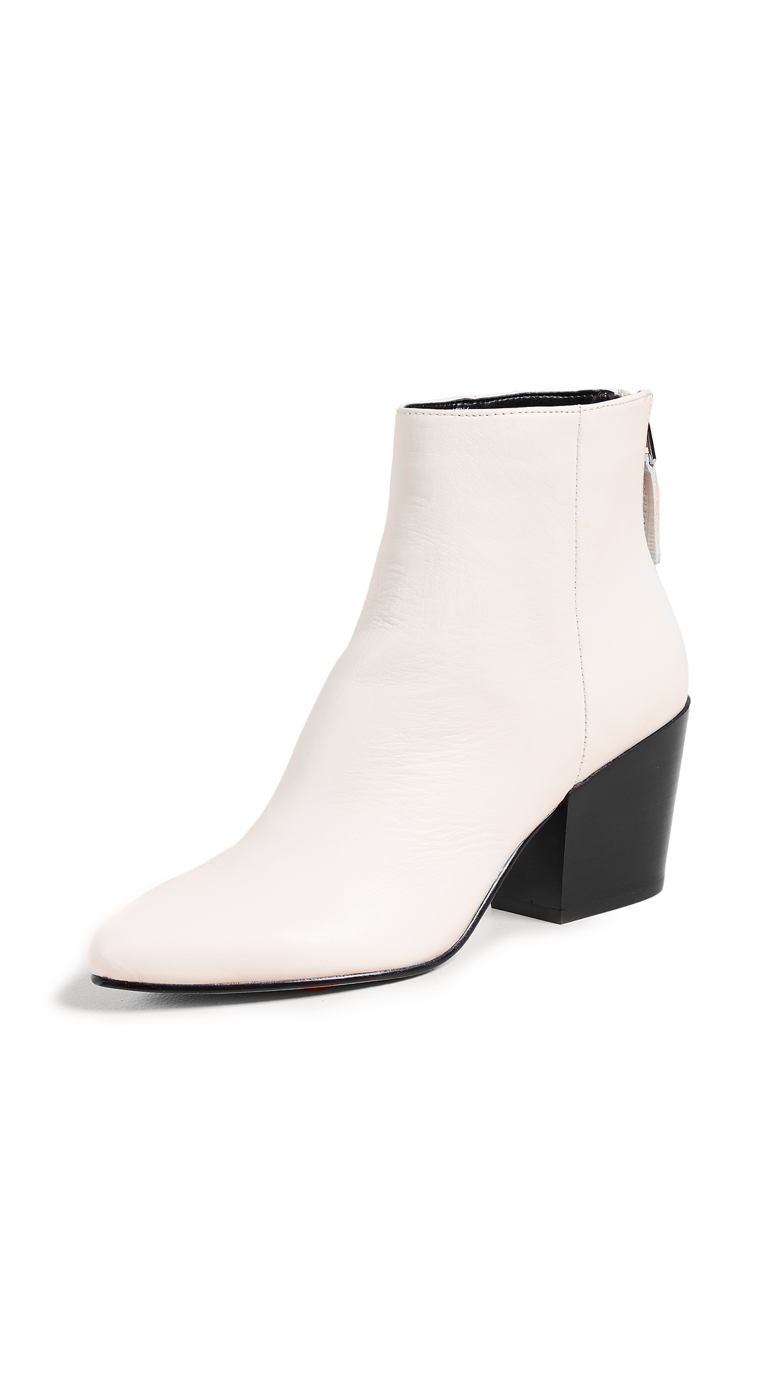 Dolce Vita Coltyn Point Toe Booties - Off White
