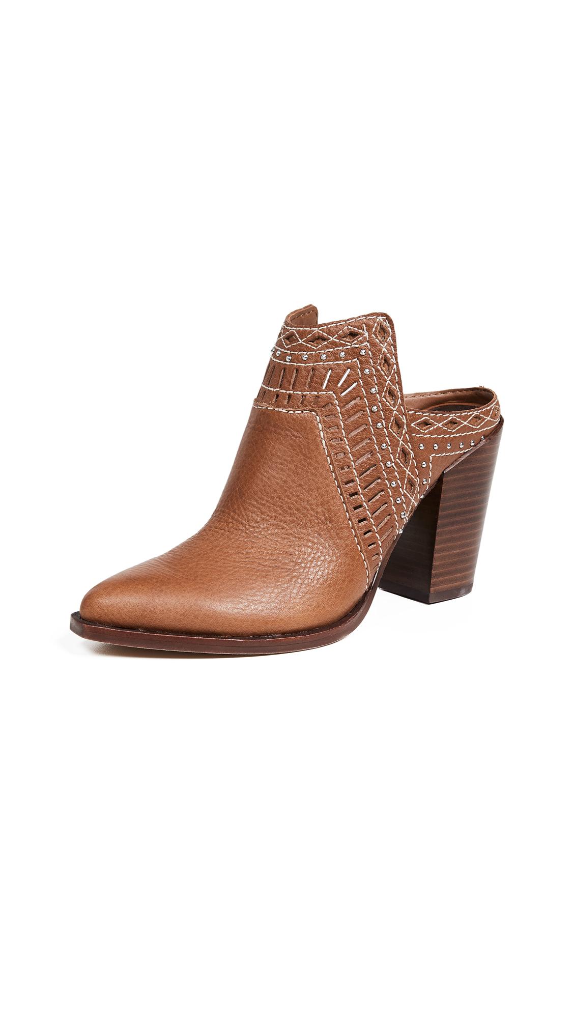 Dolce Vita Khia Block Heel Mules - Brown