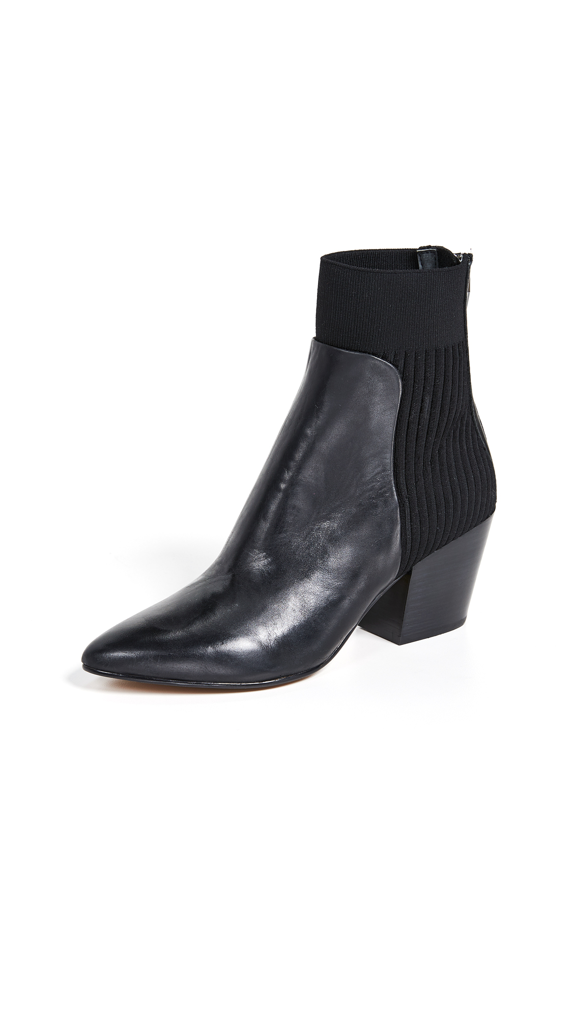 Dolce Vita Caris Sock Booties - Black