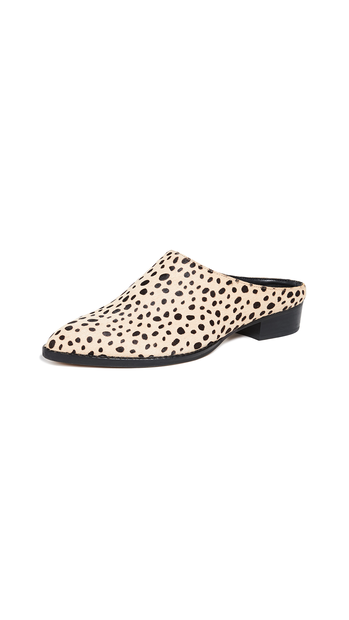 Dolce Vita Aven Point Toe Mules - Leopard