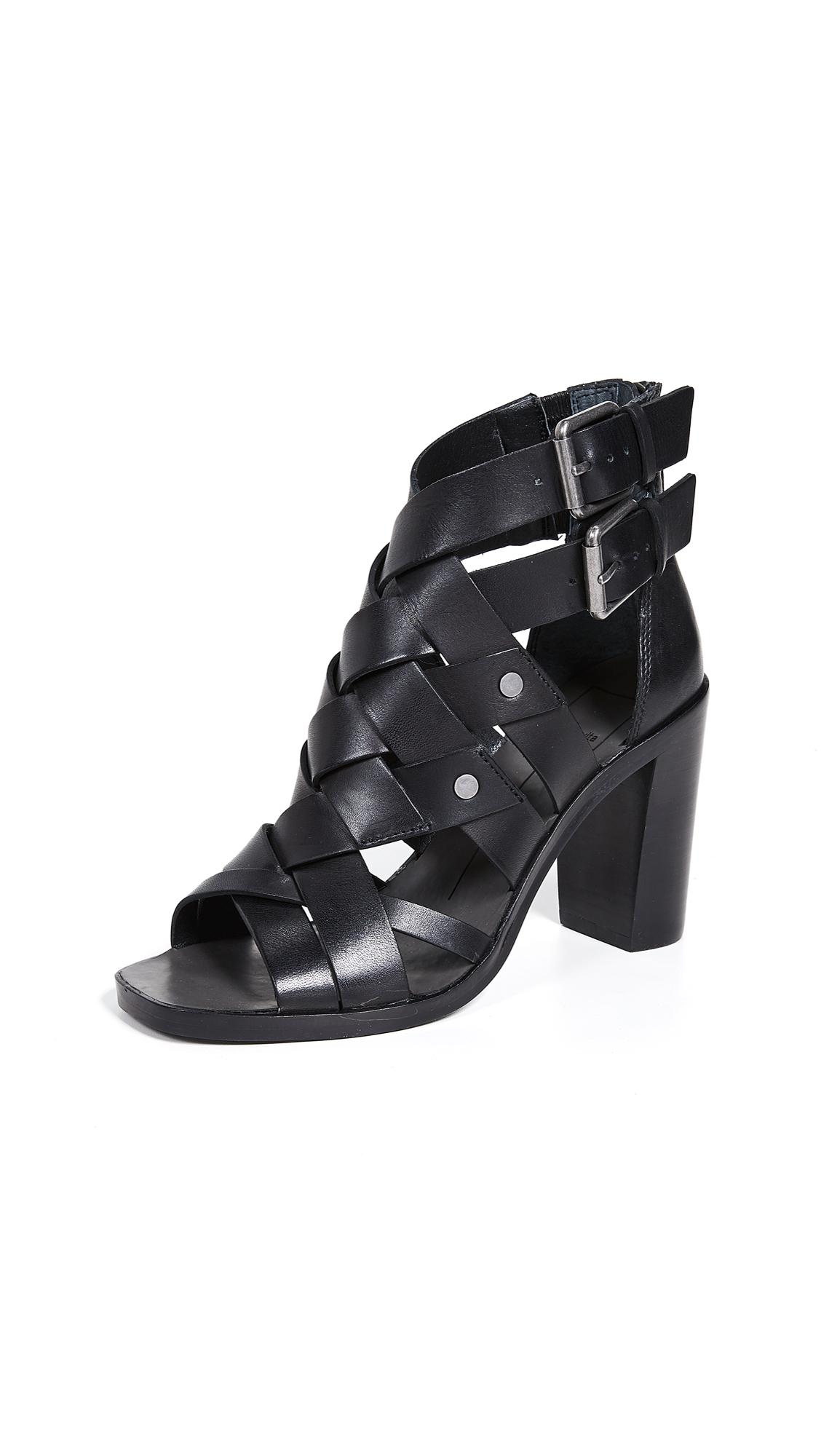 Dolce Vita Noree Peep Toe Sandals - Black