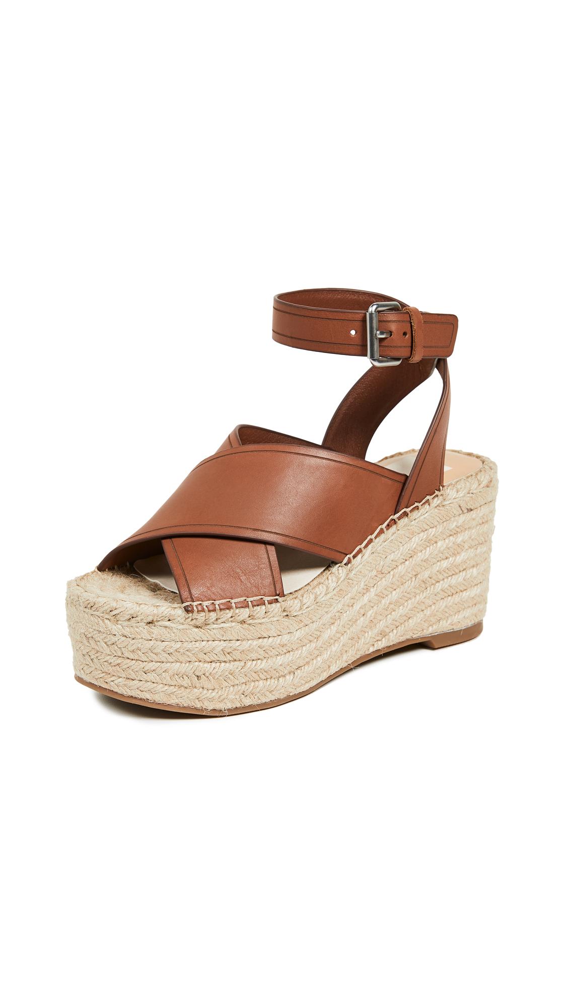 Dolce Vita Carsie Platform Espadrille Sandals - Brown