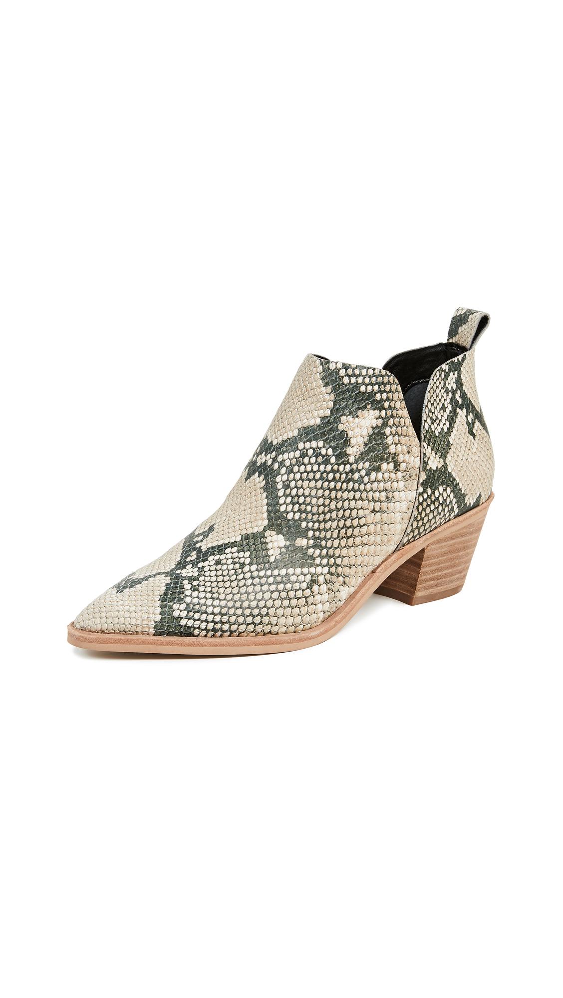 Dolce Vita Sonni Block Heel Booties - Snake Print