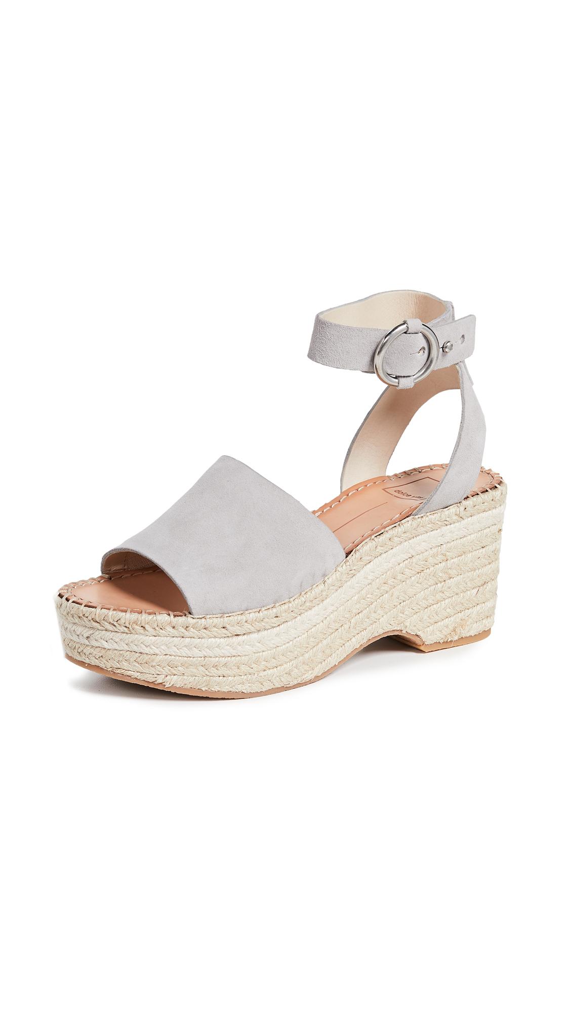 Dolce Vita Lesly Ankle Strap Espadrilles - Grey