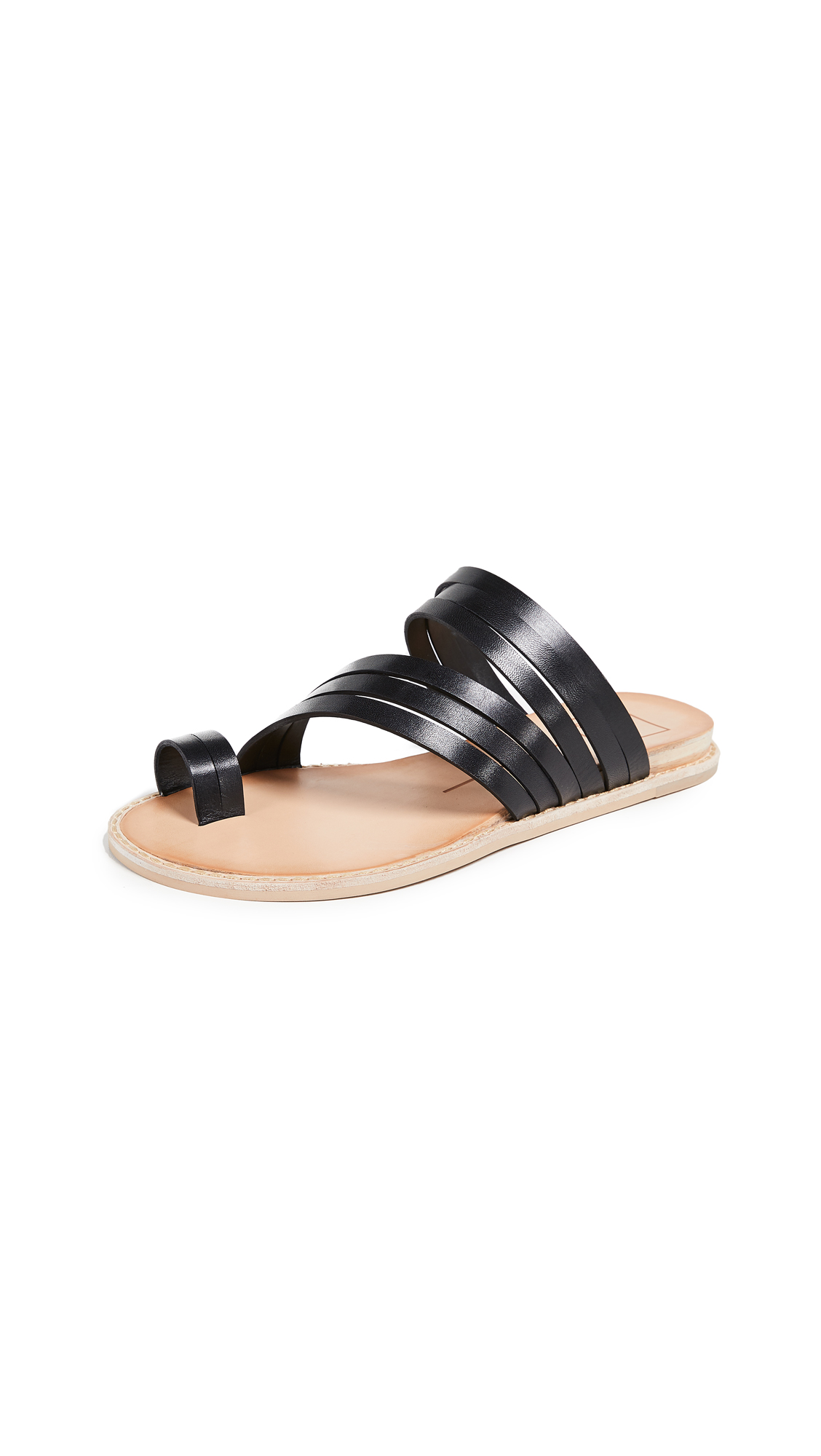 Dolce Vita Nelly Toe Ring Slides - Black