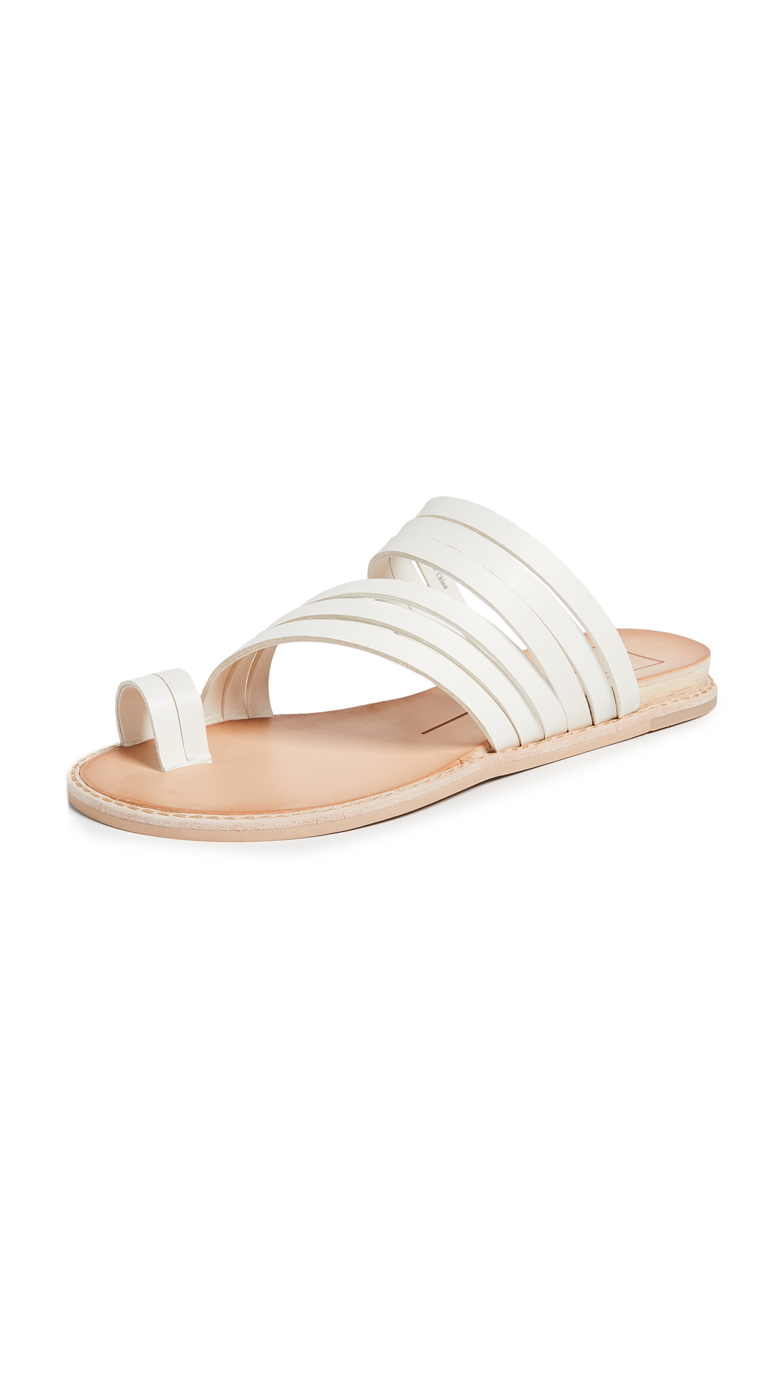 Dolce Vita Nelly Toe Ring Slides - Off White