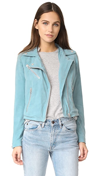 Doma Who Cropped Suede Moto Jacket