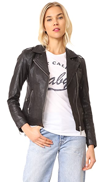 Doma Leather Jacket In Black