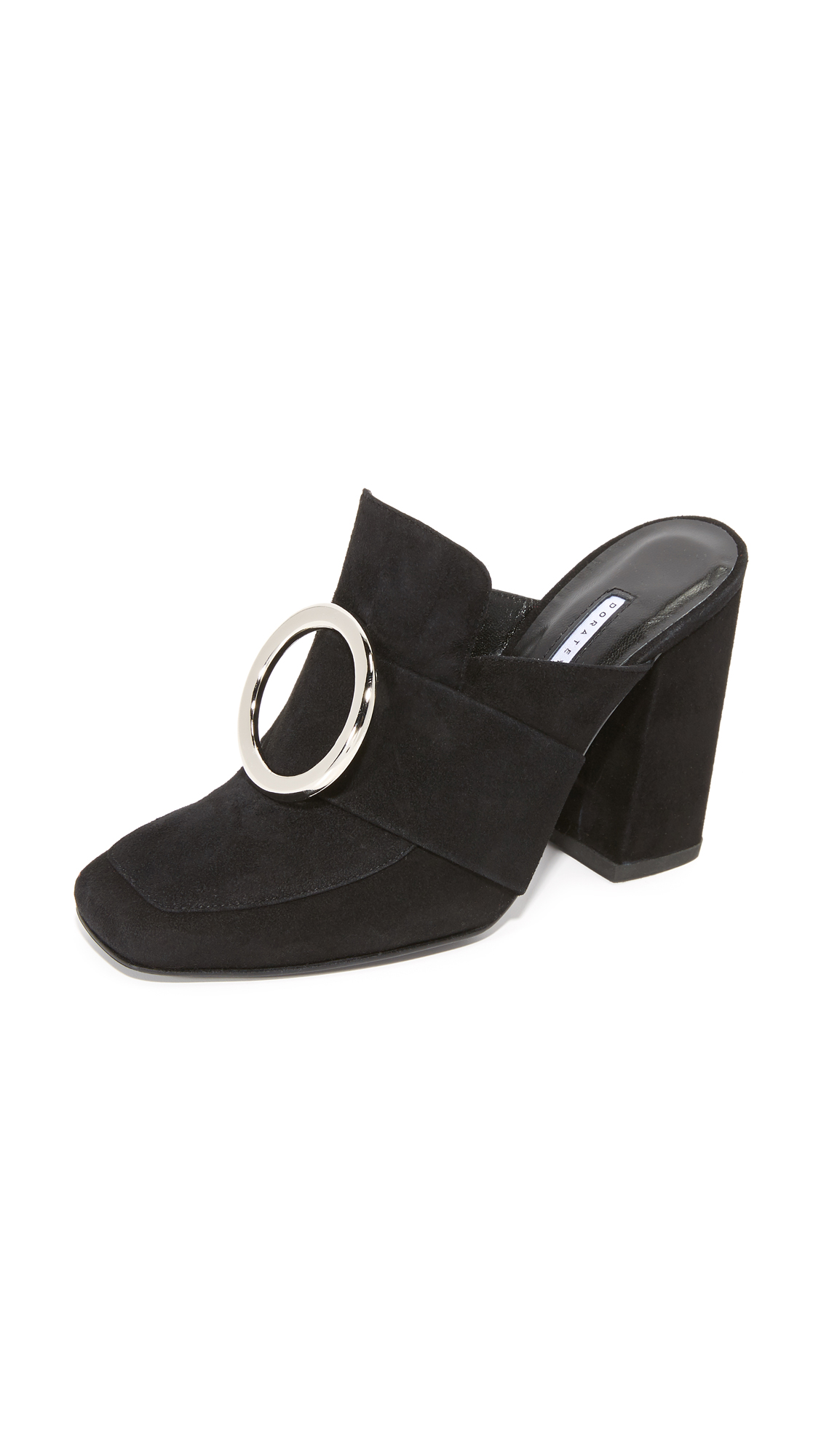 Dorateymur Munise Buckle Mules - Black at Shopbop