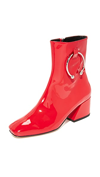 Dorateymur Nizip Booties - Red