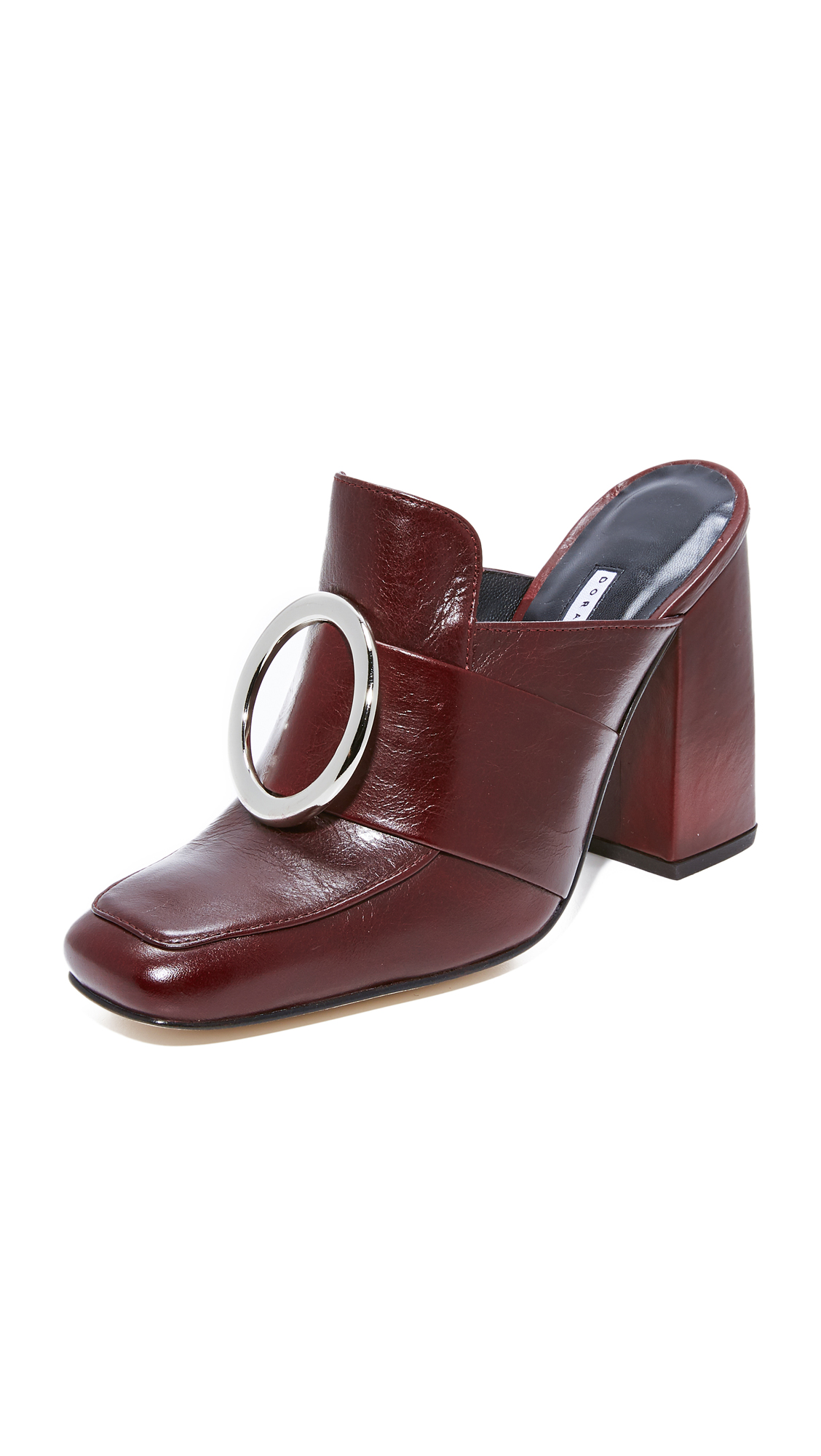 Dorateymur Munise Buckle Mules - Maroon