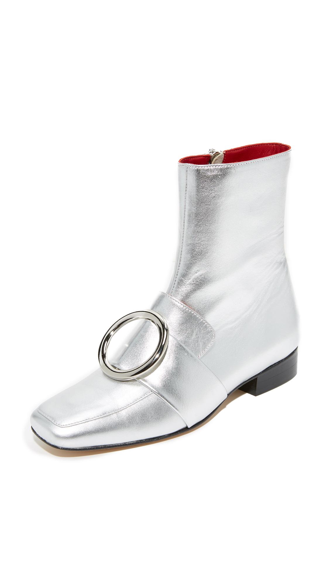 Dorateymur Biturbo Buckle Booties - Silver