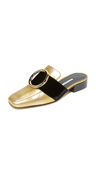 Dorateymur Petrol Mule Slides In Gold/Black